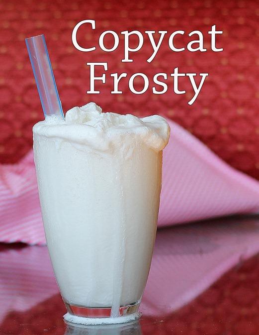 Copycat Wendy's Vanilla Frosty- the healthy version!