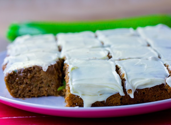 Irresistibly light zucchini cake from @choccoveredkt, with a full cup of zucchini packed into the recipe! http://chocolatecoveredkatie.com/2015/07/20/zucchini-cake-recipe/