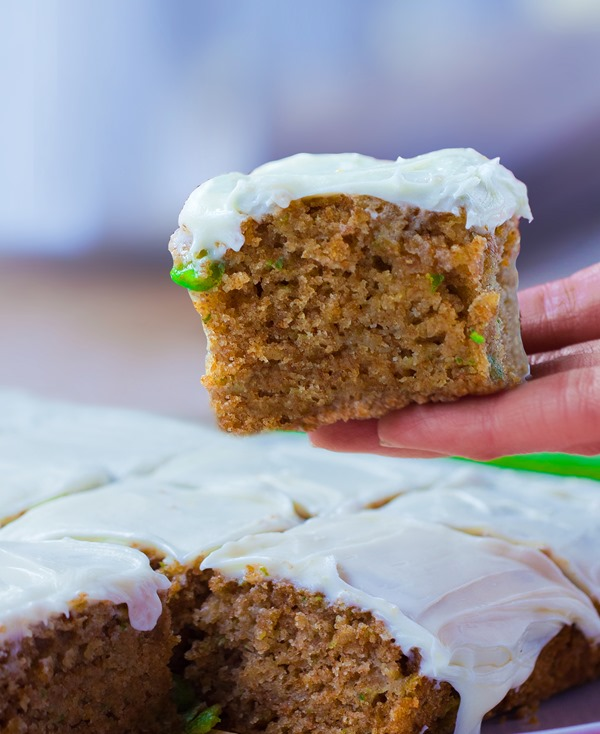 Zucchini cake from @choccoveredkt, with a full cup of zucchini packed into the recipe! http://chocolatecoveredkatie.com/2015/07/20/zucchini-cake-recipe/