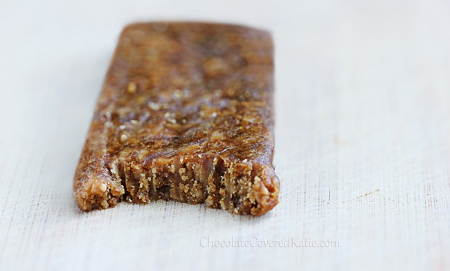 Peanut Butter Protein Bars - 5 ingredients.