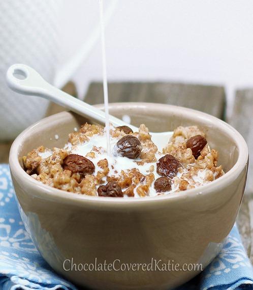 Oatmeal Raisin Cookie Oatmeal - it tastes like eating a giant oatmeal cookie for breakfast.