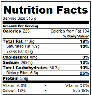 oreo nutrition label Nutrition Daily