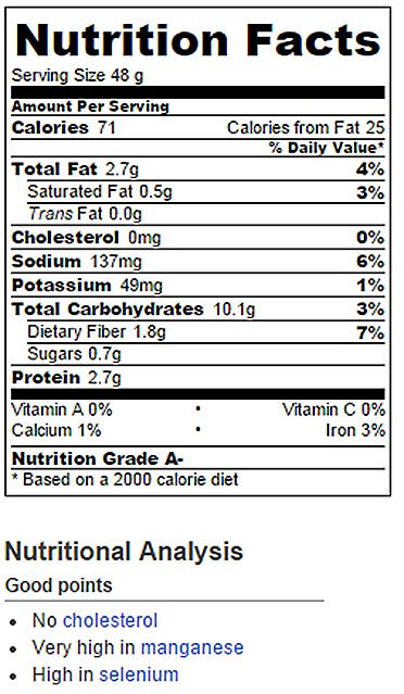 Pumpkin Gooey Butter Cake Nutrition Facts