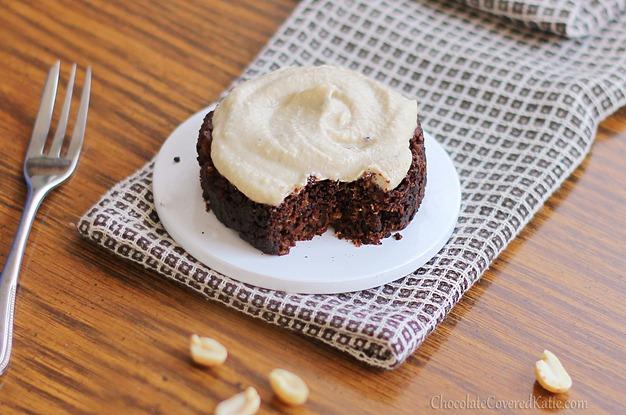 Chocolate Covered Katie Peanut Butter Mug Cake