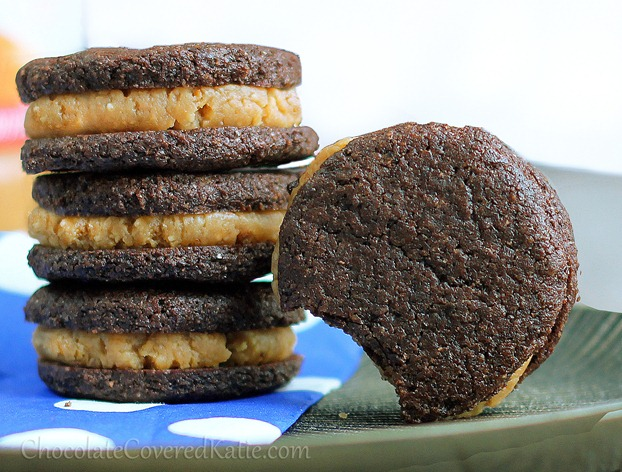 homemade peanut butter stuffed oreos