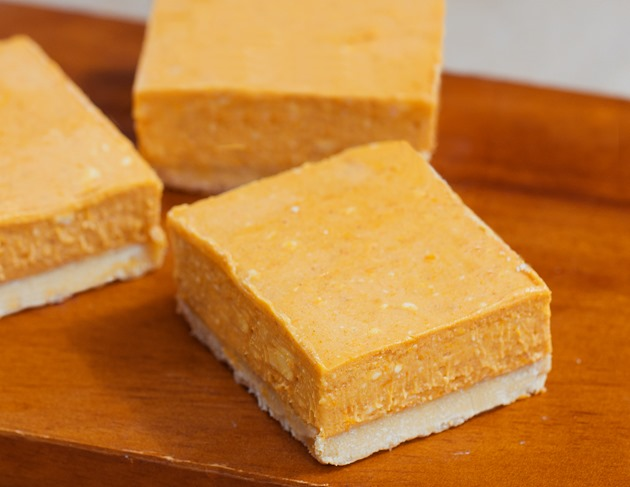 If you want to replace the pumpkin with mashed sweet potato, that's ...