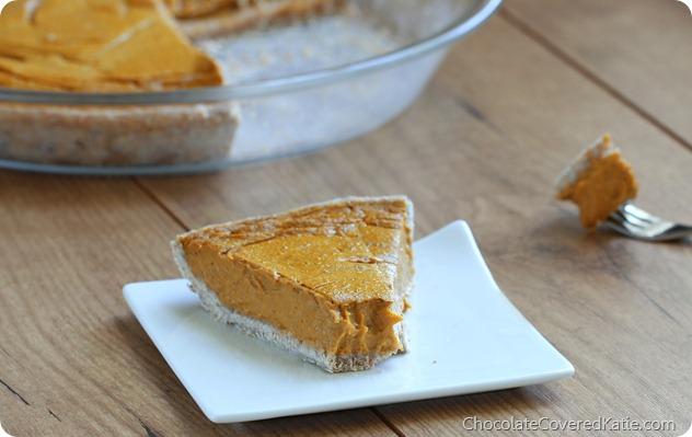 Healthy Pumpkin Pie - {the creamiest pie you'll ever taste!}