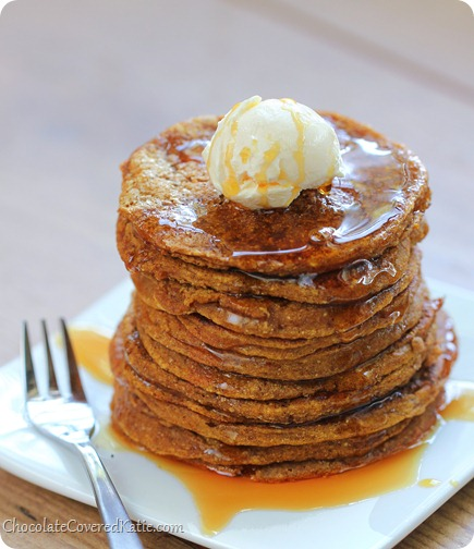 Pumpkin Pancakes {like eating breakfast pumpkin pie}