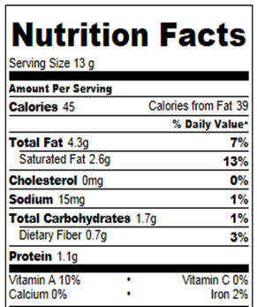 pumpkin peanut butter cups nutritional information