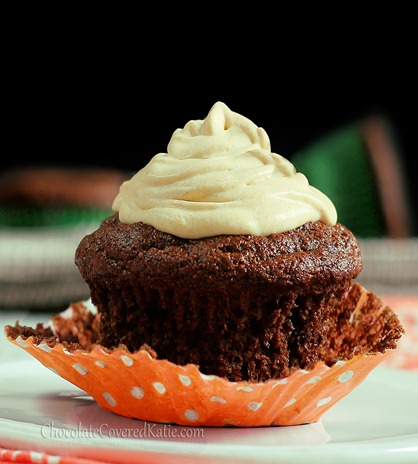"""pumpkin """"whipped cream"""" frosting."""