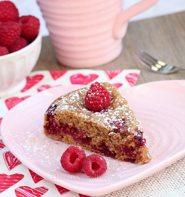 Raspberry Vanilla Coffee Cake - healthy