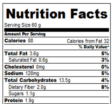 Nothing Bundt Cakes Cupcake Nutrition