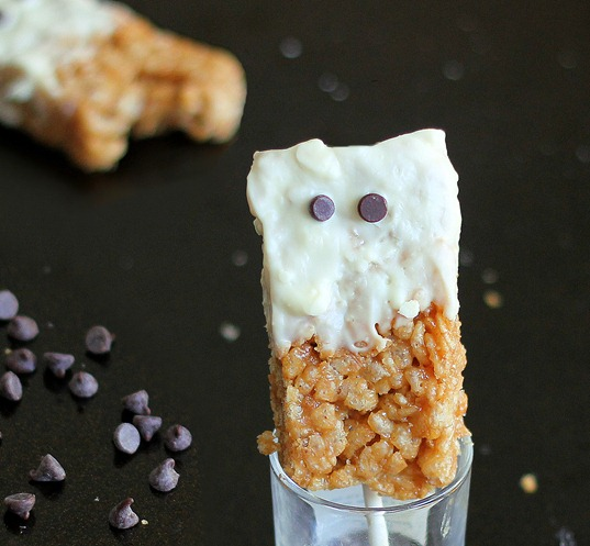 Rice crispy treat ghosts.