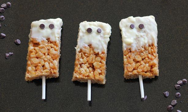 halloween rice crispy treats