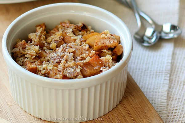 single serving apple crisp