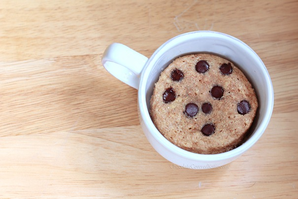 Single Serving Chocolate Chip Cake In A Mug