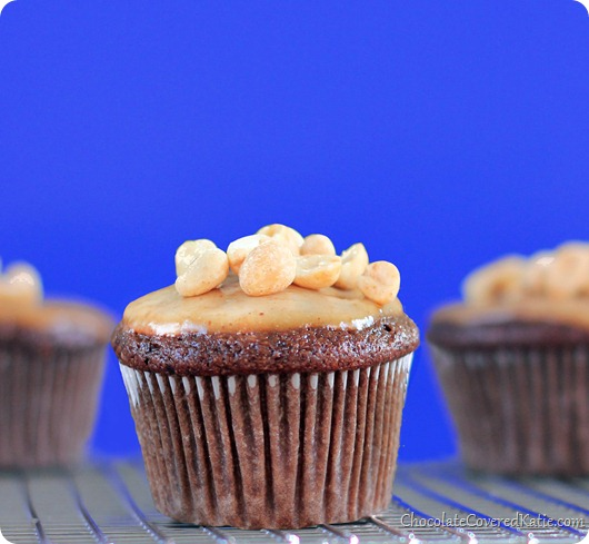 Snickers Candy Bar Cupcakes
