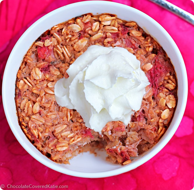 Strawberry Shortcake Baked Oatmeal
