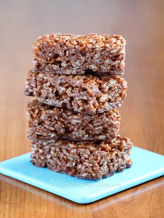 Get the full recipe here: Nutella Rice Krispies Treats