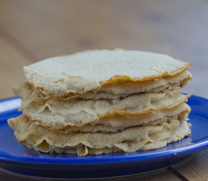 Swedish Pancakes are light and deliciously eggy… unlike anything you've ever tried! You may never go back to traditional pancakes again! Recipe: https://chocolatecoveredkatie.com/2015/09/24/swedish-pancakes-recipe-healthy-vegan/