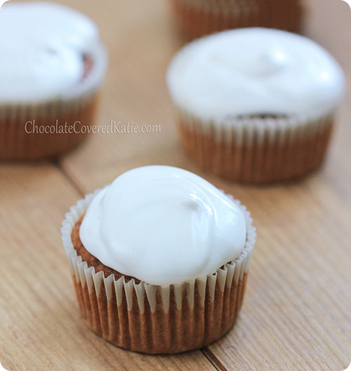 Marshmallow Sweet Potato Cupcakes