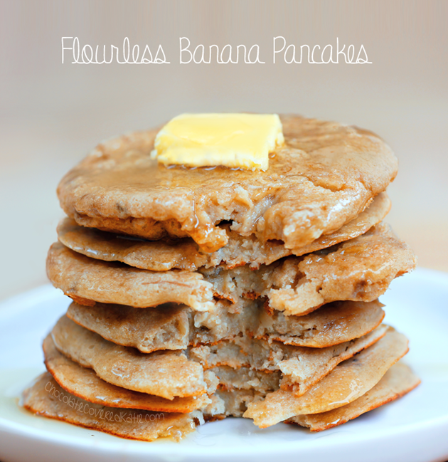 Flourless pancakes 3 ingredients flourless pancakes from choccoveredkt 12 cup rolled oats 2 tbsp ccuart Image collections