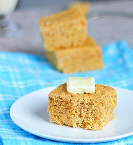 Recipe here: http://chocolatecoveredkatie.com/2012/01/18/totally-addictive-cornbread/