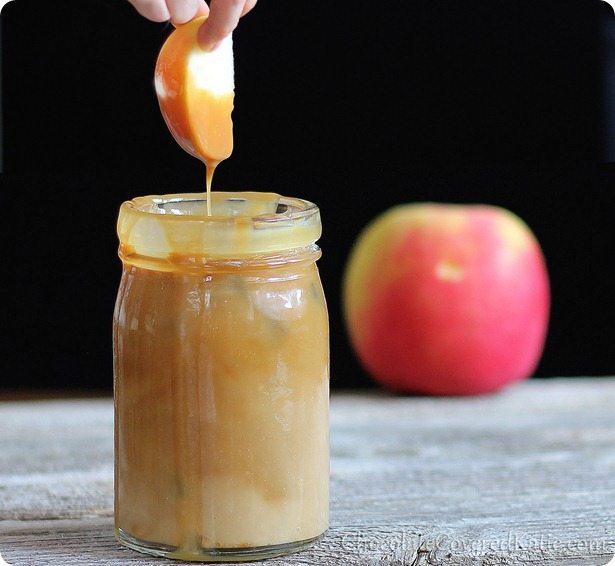 healthy caramel apple dip