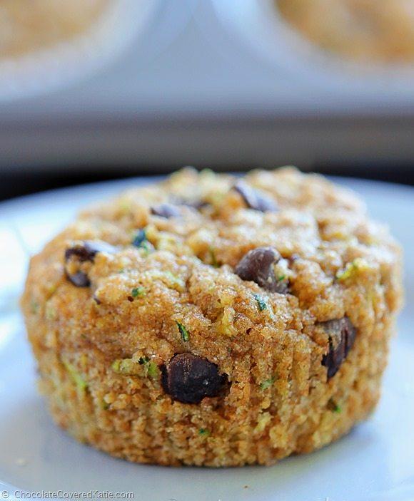 Chocolate Chip Zucchini Bread Muffins - healthy!