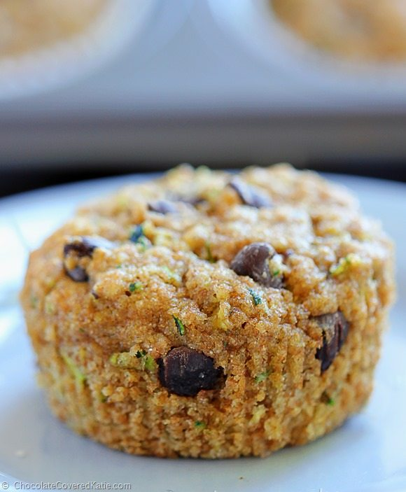 Chocolate Chip Zucchini Bread Muffins - healthy!