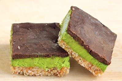 mint chocolate nanaimo bars