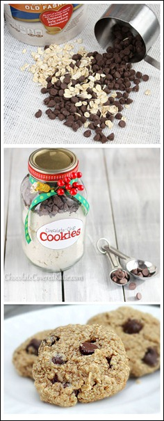 Step-by-step: Here is the tried-and-tested foolproof recipe for homemade chocolate chip cookies in a jar.  http://chocolatecoveredkatie.com/2012/12/20/healthy-chocolate-chip-cookies-in-a-jar/
