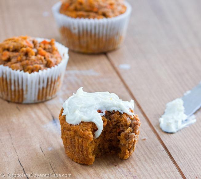 Low Fat Carrot Cake Cupcakes