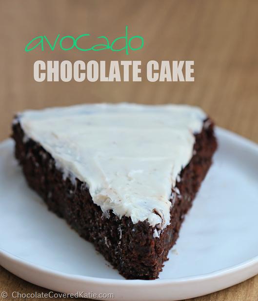 Avocado Chocolate Cake: http://chocolatecoveredkatie.com/2014/10/14/avocado-chocolate-cake/