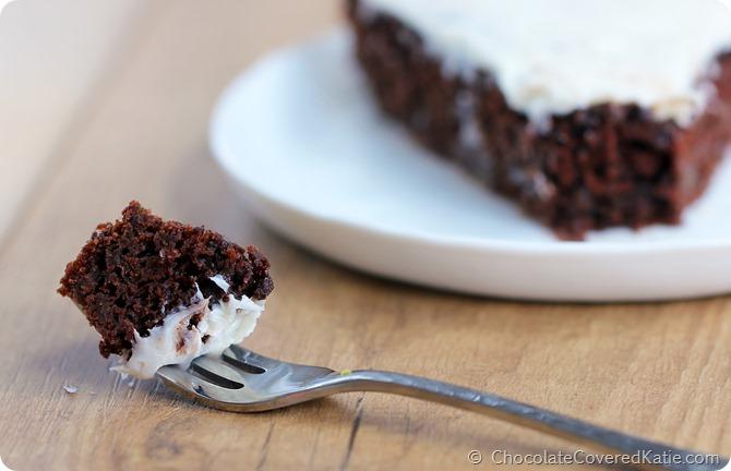 Healthy Chocolate Cake http://chocolatecoveredkatie.com/2014/10/14/avocado-chocolate-cake/