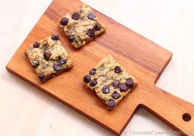 Chocolate Chip Zucchini Blondies