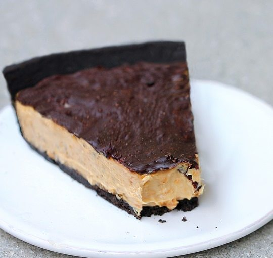 Chocolate Peanut Butter Cup Pie