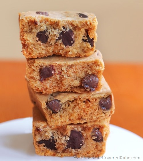 Chocolate Covered Katie Pumpkin Chocolate Chip Cookie Bars