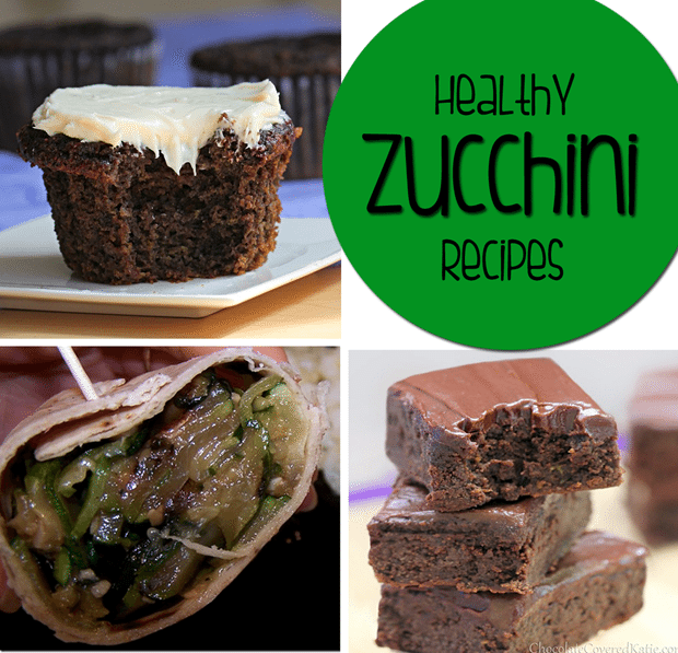 Healthy Zucchini Recipes from @choccoveredkt - 15 ways to use up all your extra zucchini! http://chocolatecoveredkatie.com/2015/08/27/healthy-zucchini-recipes/